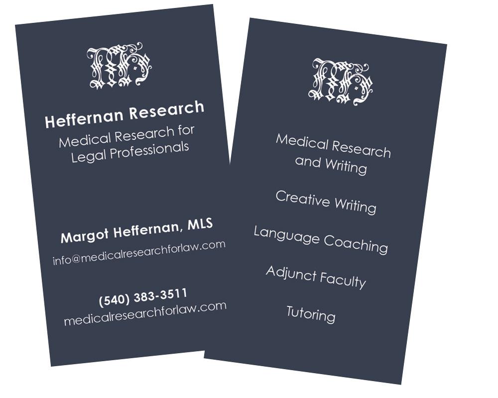 Margot Heffernan business card