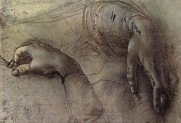 Leonardo da Vinci, Study of a Woman's Hands