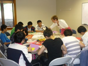 Keri Sue Brunk Instructs Chinese ELL students