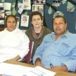 Margot, center, with two of her students from Skyline Literacy